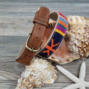 Accessories - Leather and web Serape belt Sz L/XL